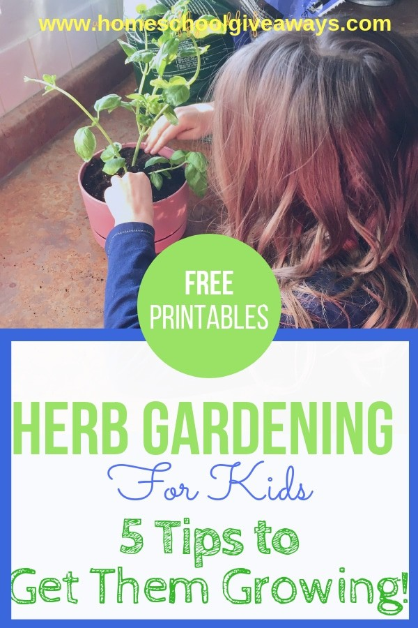 Herb Gardening for Kids: 5 Tips to Get Them Growing + Free Printables