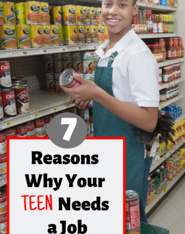 7 Benefits to Working as a Teenager #parenting #teenagers #teachingcharacter