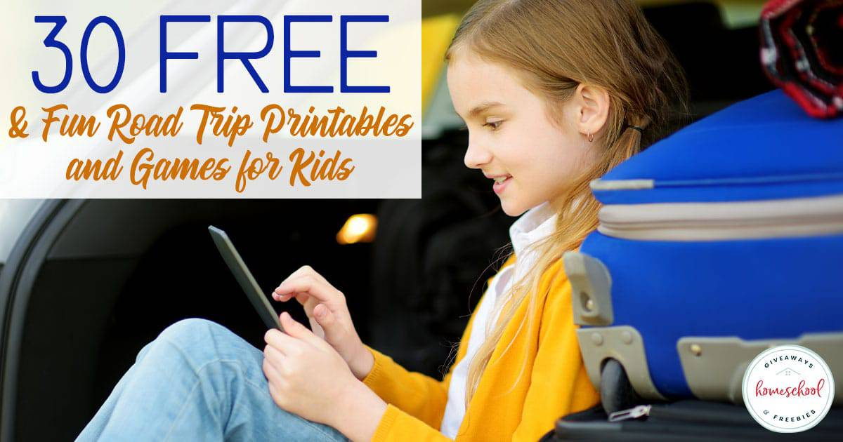 Pass the time on your next family road trip with these FREE printables, games and activities! These free printables will help the trip fly by while creating laughter and fun for everyone! #roadtrip #travelingwithkids #travelgames #hsgiveaways