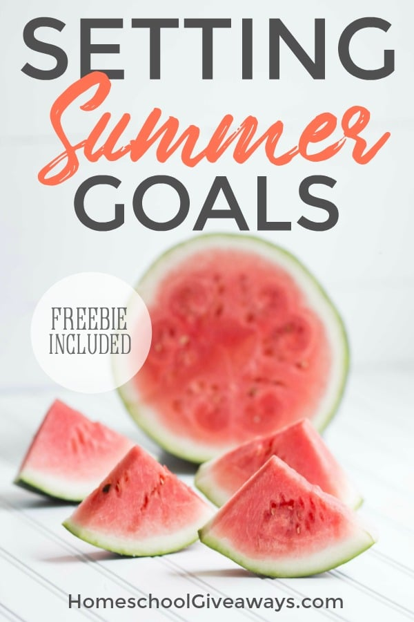 Summer is a great time to model goal-setting with your kids! Grab some freebies to help you reach your summer goals.