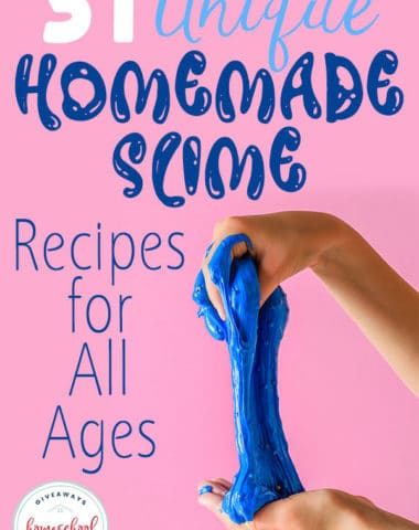 Do your kids love slime? Homemade slime is all the rage right now and these unique recipes don't disappoint! #slime #STEM #STEAM #hsgiveaways
