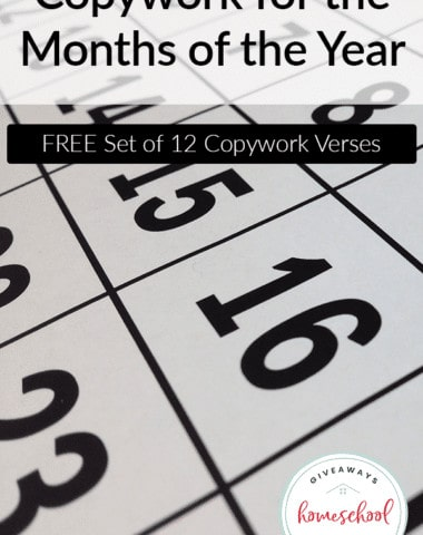 Copywork by Month