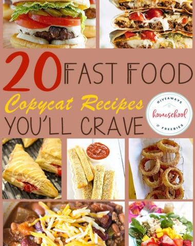 Do you have a favorite fast food item? Or maybe a favorite fast food restaurant? Now you can replicate them at home and save money with these copycat recipes! #recipes #fastfoodathome #cooking #hsgiveaways