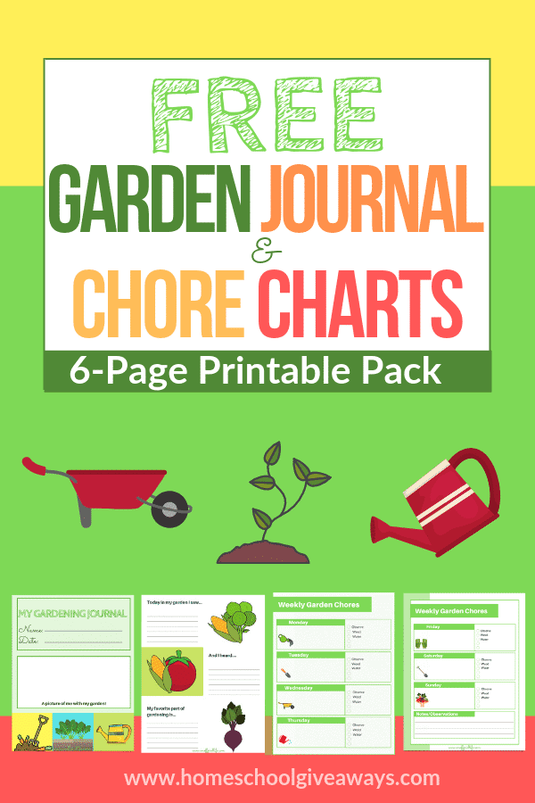 photograph regarding Printable Garden Journal identify Cost-free Gardening Magazine Pack - Homeschool Giveaways