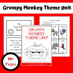 Grumpy Monkey theme unit activities.