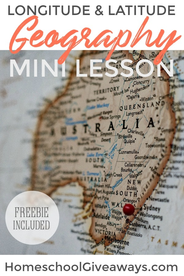 Here's a quick geography mini lesson you can do in 15 minutes! Hands-on ideas for learning longitude & latitude, plus grab a free Geography Mystery Calendar.