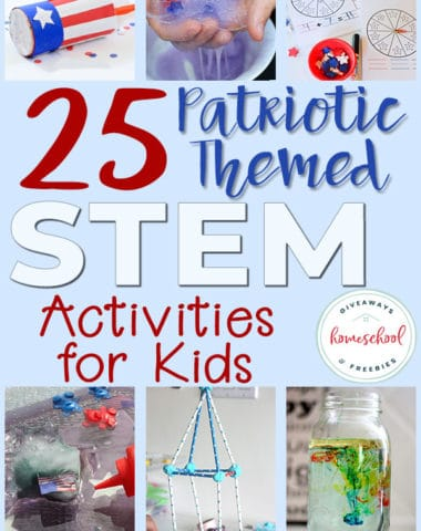 I know homeschoolers love to sprinkle in learning wherever they can, even on holidays. Why not make the next Patriotic holiday learning even more fun with some themed STEM activities! They will love playing with fizzy dough, themed slime, creating their own fireworks in a jar and much more! #STEM #Patriotic #4thofJuly #hsgiveaways