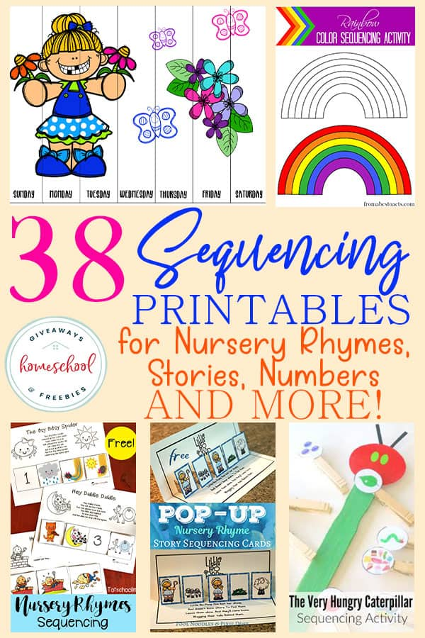 graphic relating to Story Sequencing Cards Printable named 38 Sequencing Printables for Nursery Rhymes, Reviews