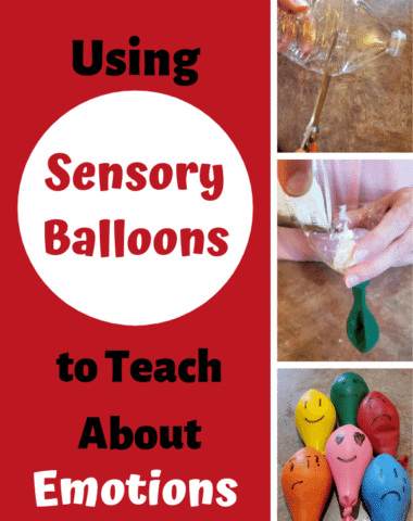 Teach your children about emotions with these fun sensory balloons. #homeschool #emotions #preschool #sensory