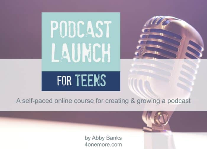 Here's a self-paced online course that will help guide your teens through the process of launching a podcast! There's instructions for including this on a homeschool transcript too.