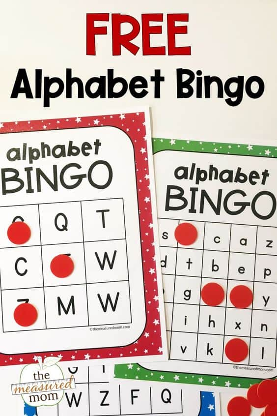 image relating to Free Printable Bingo Cards With Numbers known as Free of charge Printable Alphabet Bingo Playing cards - Homeschool Giveaways