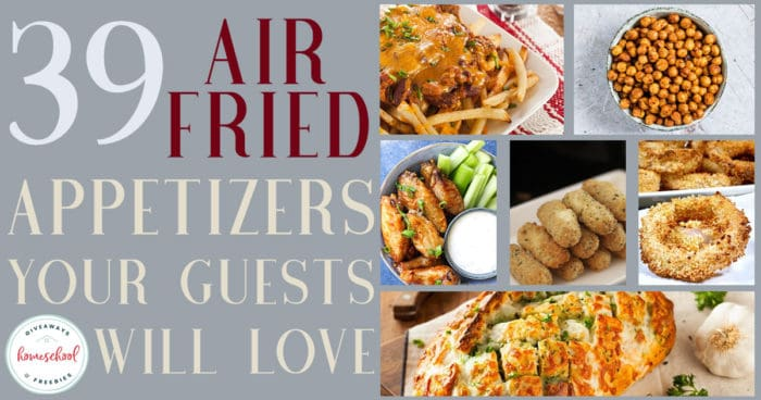 Whether you're gathering to watch the big game, play games with your friends and family or just for fun, your guests will love these appetizers. And the best part, you can make them without heating up the house! #recipes #airfryer #appetizers #hsgiveaways