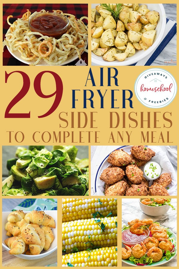 Do you ever stress out about having your side dishes ready with your main dish? These air fryer side dish recipes can help save the day! Don't miss these delicious recipes to make your meal complete. #recipes #airfryer #sidedish #hsgiveaways