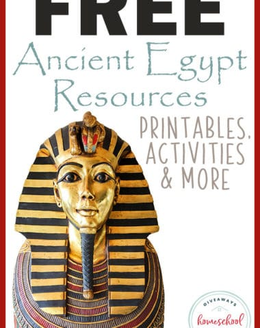 Are you studying Ancient Egypt this year? Maybe you're learning about specific Pharaohs and Queens? Check out these FREE Resources to help you create a unit study your kids will love and remember. #AncientEgypt #EgyptianPharaohs #history #hsgiveaways