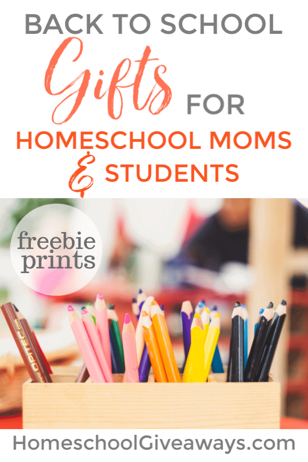 Here are some fun back to school gifts to celebrate the new homeschool year. Grab the freebie prints too.