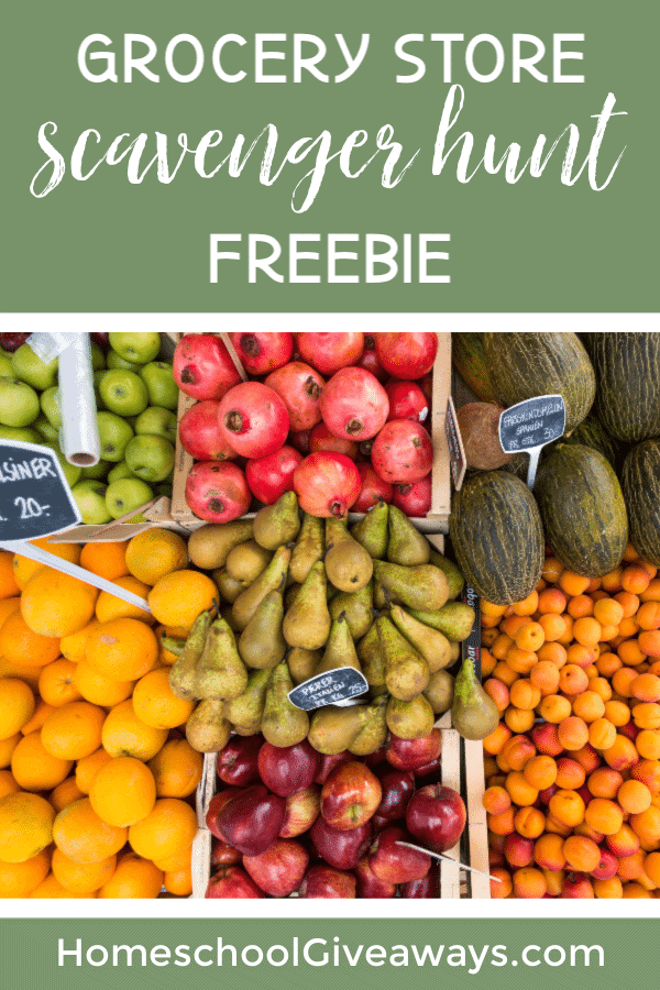 Grab this Grocery Store Scavenger Hunt Freebie before you head to the store with the kids!