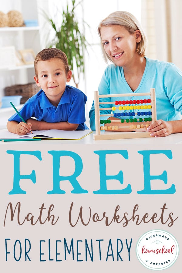 Are you looking for some supplemental help with math? Check out this list of FREE Math worksheets for elementary students! #mathworksheets #mathsupplements #homeschoolgiveaways