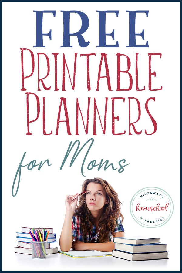Summer is homeschool planning time and you are going to love these free homeschool planners for moms! #homeschoolplanning #freeplannersformom