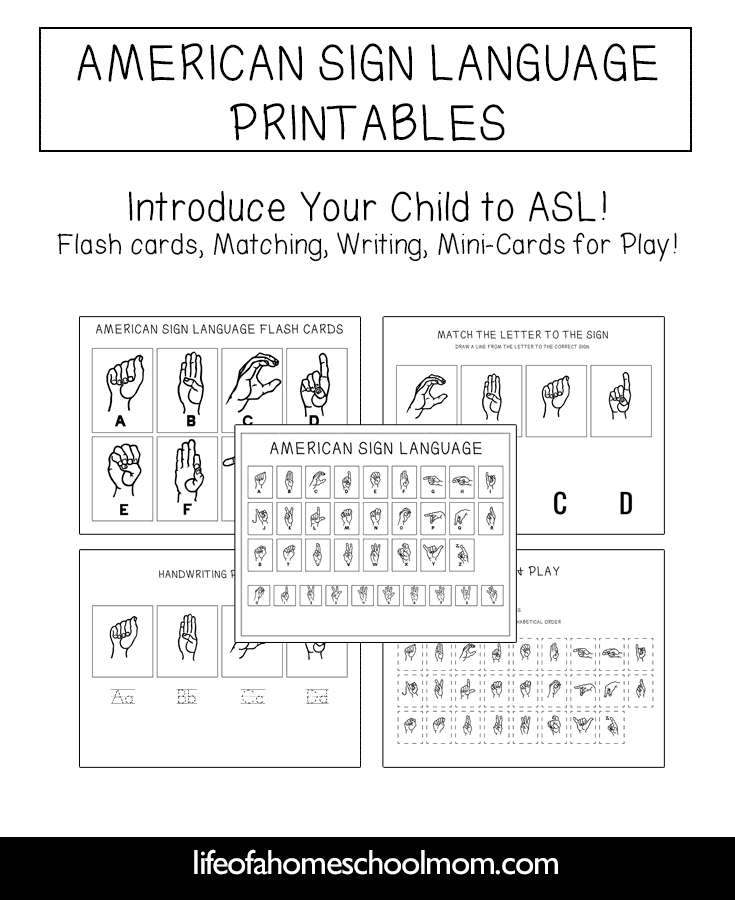 picture relating to Printable Asl Signs titled Absolutely free American Indicator Language Review Pack ASL Printable