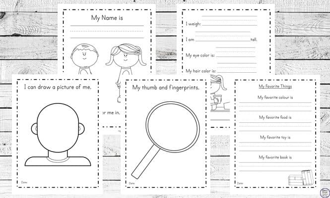 image about All About Me Page Printable named Free of charge All Pertaining to Me Printable - Homeschool Giveaways