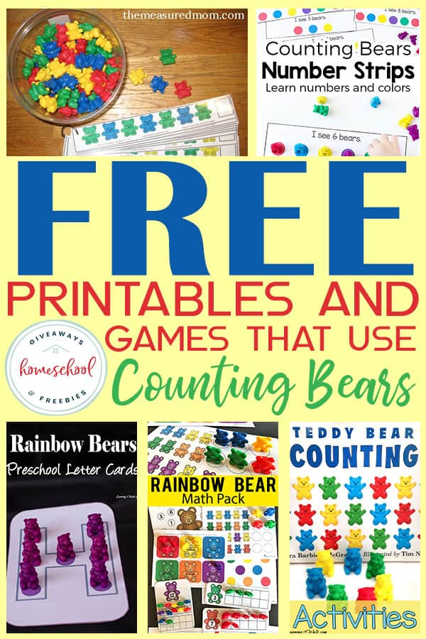 photo relating to Printable Bears Schedule named No cost Printables Video games that Seek the services of Counting Bears - Homeschool