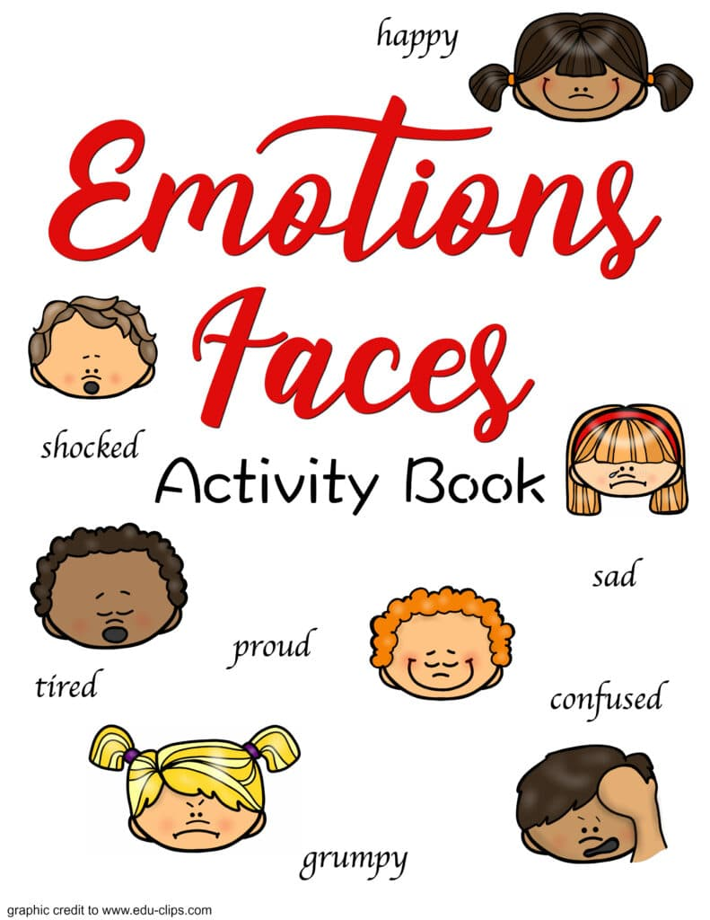 image relating to Printable Emotions titled No cost Experience Faces and Routines Printable for Your Small children