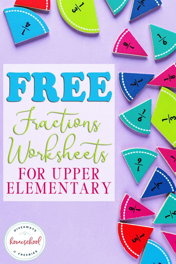 These FREE fraction worksheets are great to help supplement your upper elementary students. #homeschoolmath #freefractionworksheets