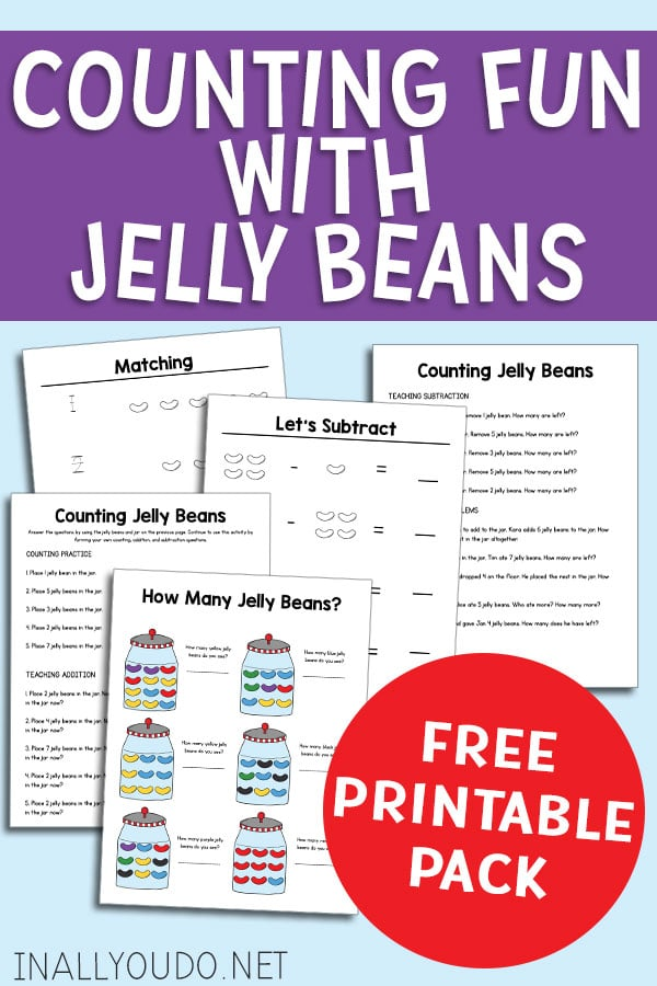 picture about Jelly Belly Logo Printable identified as Totally free Printable Pack for Counting Jelly Beans - Homeschool
