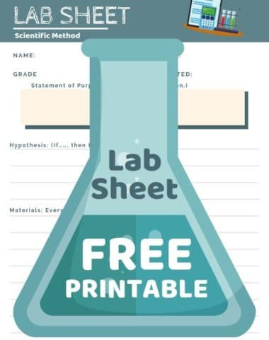 image of lab sheet free printable on www.homeschoolgiveaways.com