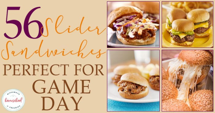 Are you ready for game days? These slider sandwiches are the perfect mix of appetizer and meal to please any crowd. With over 55 options to choose from, you'll have enough options to last the entire season! #recipes #sliders #gameday #hsgiveaways