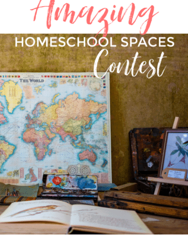 We want to be inspired by how you make your space work for you. Enter the Amazing Homeschool Spaces Contest for a chance to win a $50 Amazon Gift card.