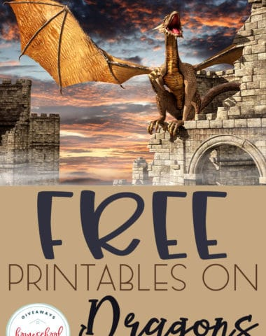 If your children like dragons they will love these free printables on dragons! #dragons #freedragonprintables