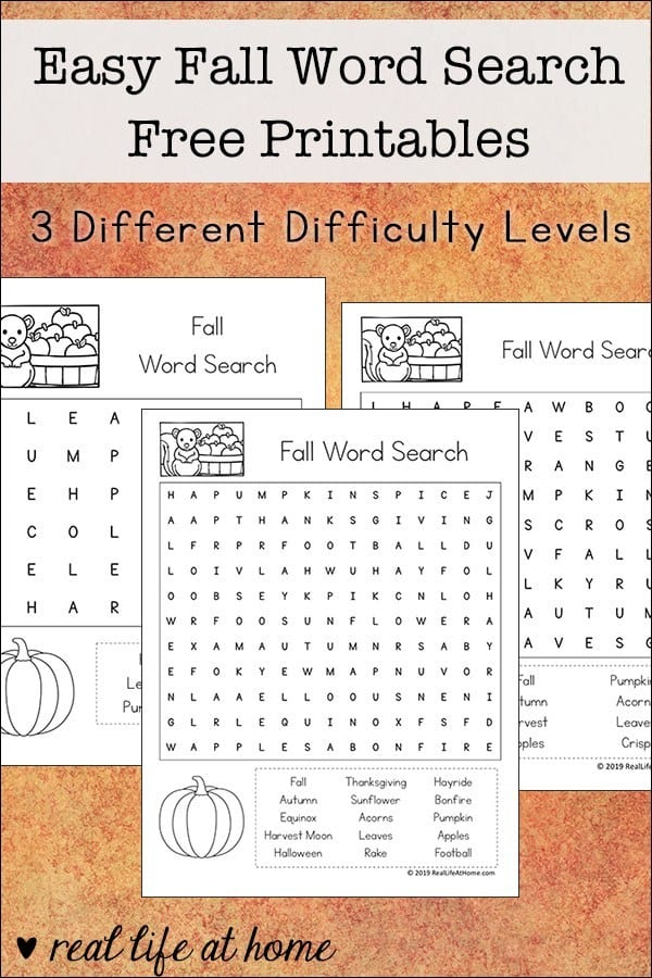 image about Fall Word Search Printable titled No cost Printable Slide Phrase Appear Sets for youngsters - Homeschool