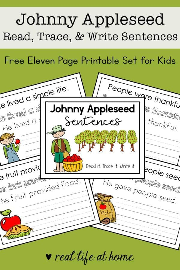 sample pages of Johnny Appleseed Sentences