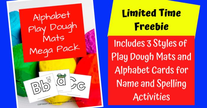 Alphabet play dough mats #playdough #playdoh #preschool