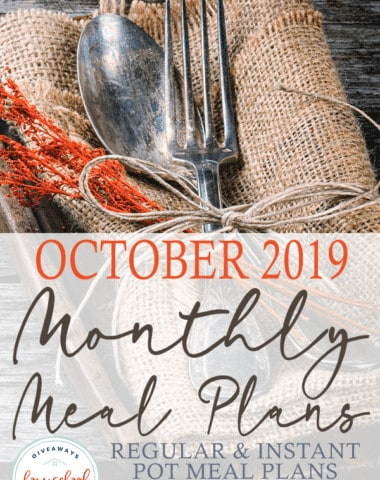 I love everything about fall weather. From the changing leaves to cool and breezy air and everything in between. I also love football, bonfires and spending cool days outside with my family. That's what I love about meal plans - the flexibility and ability to plan ahead for special times! #mealplans #mealplanning #recipes #hsgiveaways