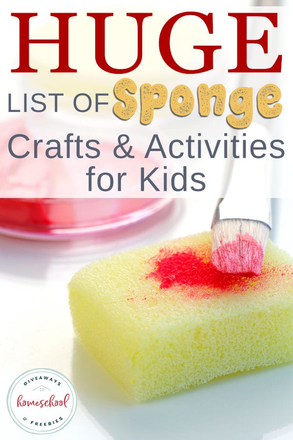 Sponges are one of those versatile products. They are great for cleaning, but they can also be used for crafts and activities with your little ones. We've divided them up for easier reference. You'll find seasonal, holidays, animals and options for all ages! #crafts #painting #spongepainting #hsgiveaways
