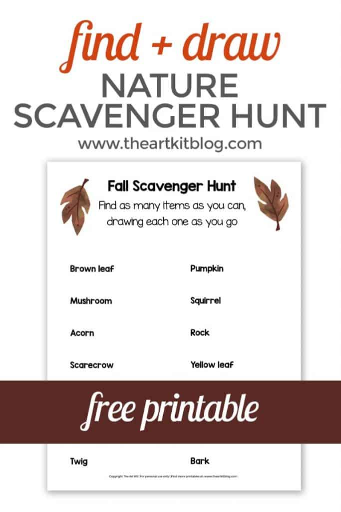 photo about Fall Scavenger Hunt Printable named Totally free Printable Locate and Attract Scavenger Hunt for the Drop