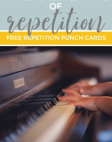 Let's explore the benefits of repetition and how you can use your FREE repetition punch cards in your homeschool.