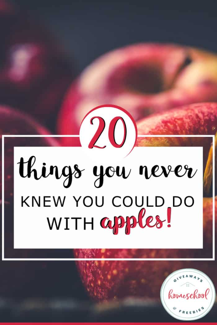 several red apples with overlay - 20 Things You Never Knew You Could Do with Apples