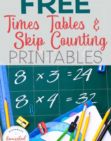 FREE Times Tables Skip Counting and Printables