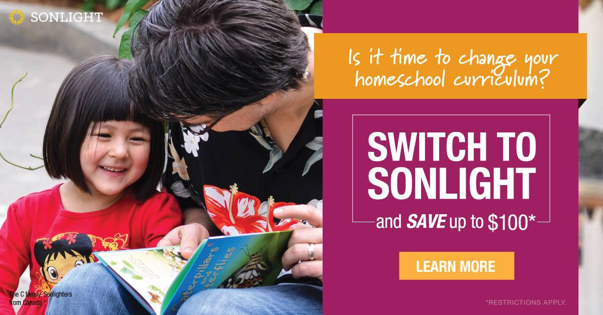 Switch to Sonlight and Save $100