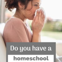 """Create a homeschool back-up plan for when """"life happens."""" #homeschool #homeschooling #homeschoolplanning #sickday"""