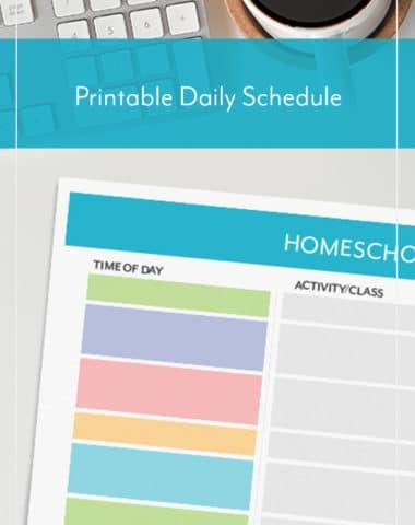 Printable Daily Homeschool Schedule