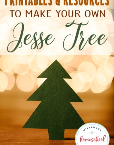 The Jesse Tree is a wonderful, interactive way to involve the entire family in your Advent studies. There are plenty of free and inexpensive DIY options your kids will love. Check them out. #JesseTree #Advent #Christmas #hsgiveaways