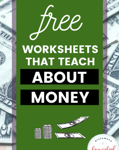 Free Worksheets that Teach About Money. #moneyworksheets