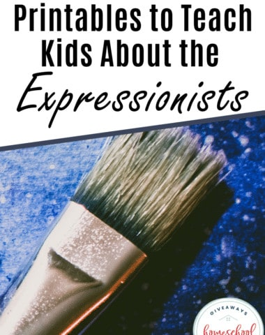 Printables to Teach Kids About the Expressionists. #expressionism #expressionist