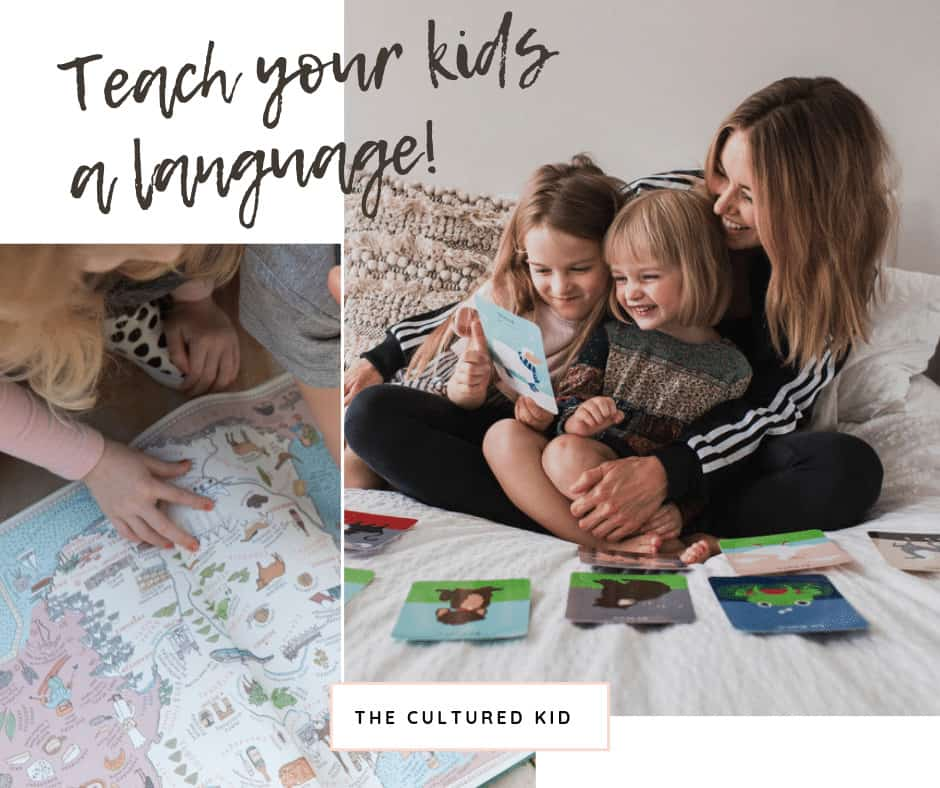 How to teach a second language at home even if you're not fluent (with freebie checklist and video series)