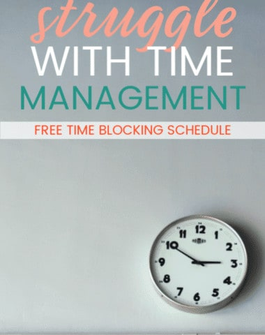 Why is time management such a hard thing for many homeschool moms? Here are 3 reasons and a FREEBIE to help you have a quick win.