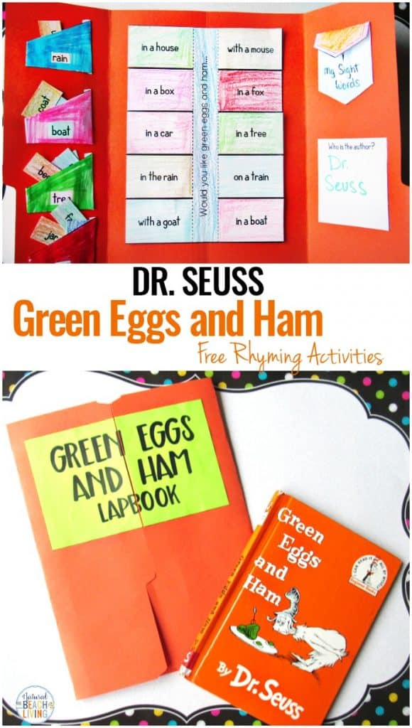 green eggs and ham lapbook